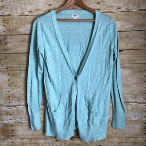Mossimo Mint Green Button Up Cardigan Sweater
